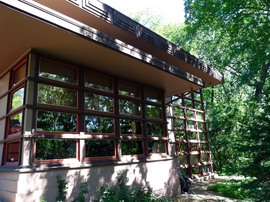 "James B. McBean Residence"",フランク・ロイド・ライト,窓,リビング"